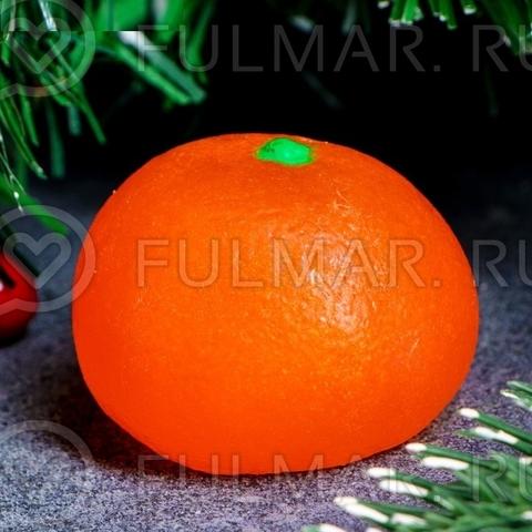 Мыло в форме Мандарина новогоднее 4 см × 4 см × 4 см, 70 гр