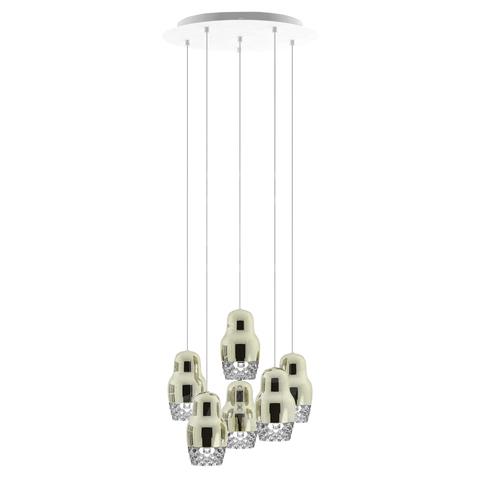 Подвесной светильник копия FEDORA 6 by AXO LIGHT  (серебряный)