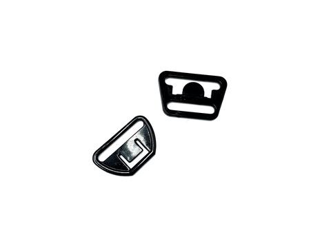Крючок-застежка для бюстгальтера для кормящих мам черная 20 мм