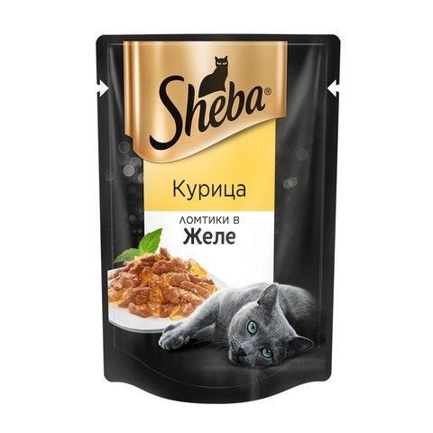 Sheba пауч для взрослых кошек курица в желе 85 г