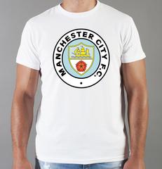 Футболка с принтом FC Manchester City (ФК Манчестер Сити) белая 006