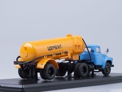 ZIL-130V1 later with semitrailer TC-4 Cement orange Start Scale Models (SSM) 1:43