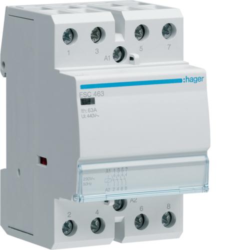 Контактор модульный, 4н.о., AC1/AC7a 63A, Uупр.=230В 50Гц, ширина 3М