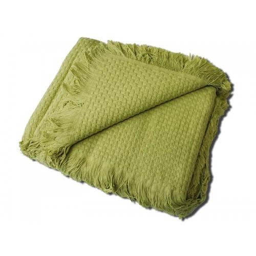 Покрывала Плед вязаный хлопковый  Design  зеленый  Buddemeyer Бразилия зеленый.jpg