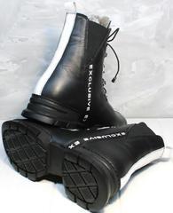 Ботинки в спортивном стиле женские зимние Ripka 3481 Black-White.
