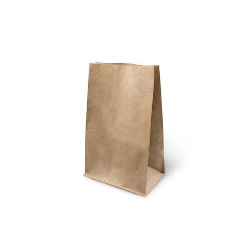 Бумажный крафт пакет без ручек, с прямоугольным дном, 220*120*290 мм