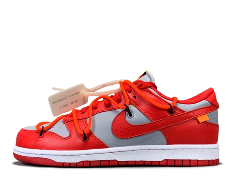 Off-White x Nike Dunk Low 'University Red/Grey'