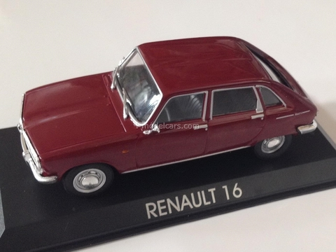 Renault 16 maroon 1:43 DeAgostini Masini de legenda #78