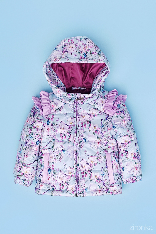 Куртка разноцветная для девочки 48-9001-2
