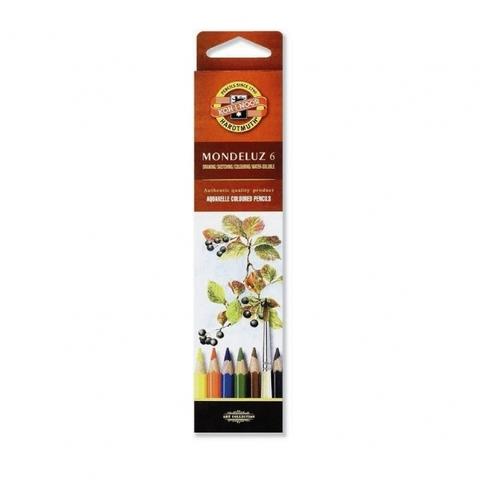 Набор акварельных цветных карандашей Koh-I-Noor 3715 Mondeluz в картонной коробке, 6 цветов