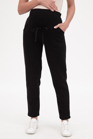 Утепленные спортивные брюки для беременных 12014 черный