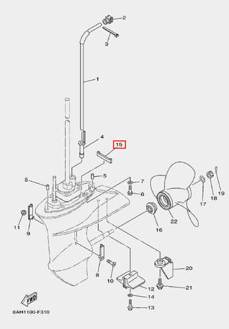 Полоса уплотнительная для лодочного мотора F20 Sea-PRO (24-15)
