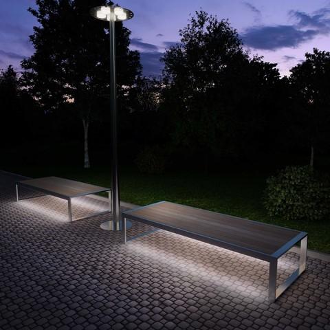 Садово парковая лавка с подсветкой