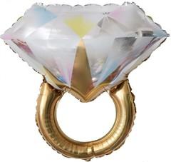 К 27''/69 см Фигура, Кольцо с бриллиантом, Золото, 1 шт.