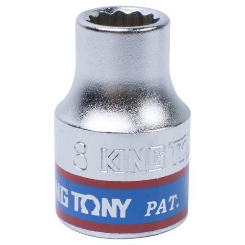 KING TONY (333008M) Головка торцевая стандартная двенадцатигранная 3/8