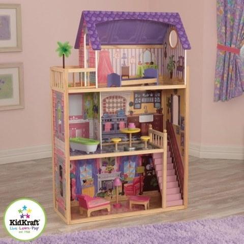 Домик из дерева KidKraft для кукол 30 см с мебелью 10 предметов Кайла 65092_KE