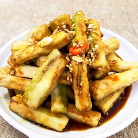 Баклажаны в чесночном соусе 秘制蒜汁茄子