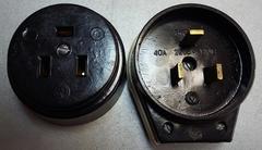 Вилка + розетка для бытовых электроплит