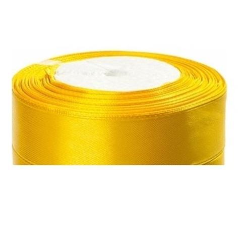 Лента атласная (размер:25мм х 25 ярдов) Цвет:желтый