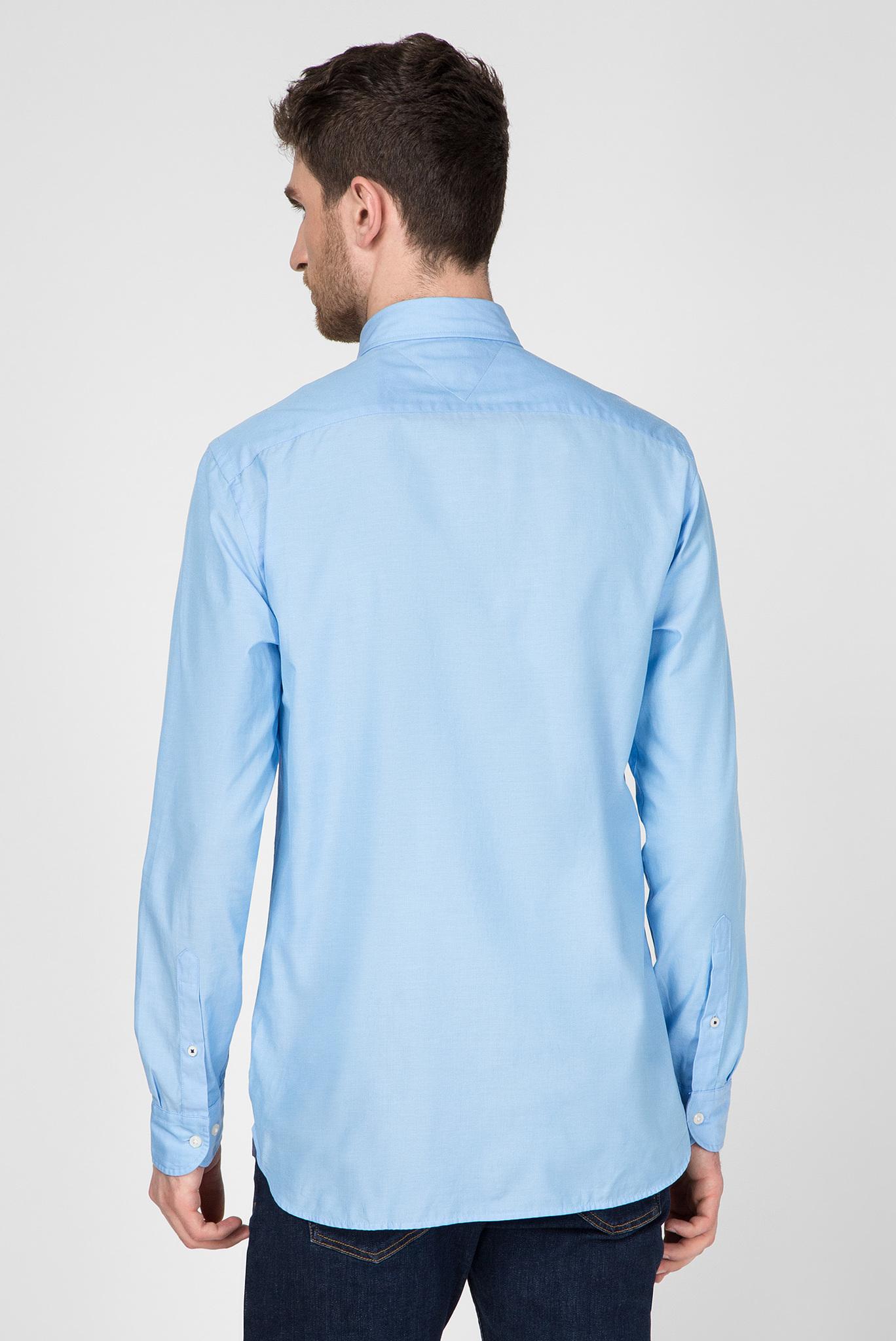 Мужская голубая рубашка NATURAL SOFT POPLIN Tommy Hilfiger