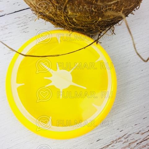 Слайм лизун фрукт антистресс с блестками Дыня Жёлтая