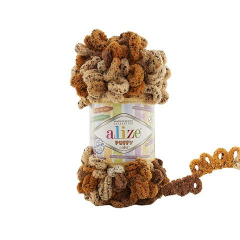 Купить Пряжа Alize Puffy Color Код цвета 6080 | Интернет-магазин пряжи «Пряха»