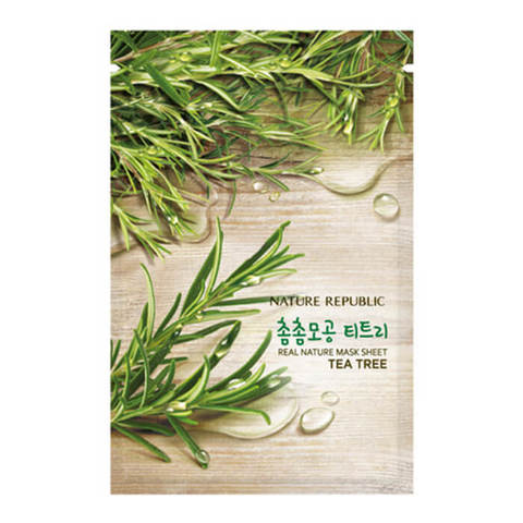 Маска для лица с экстрактом чайного дерева NATURE REPUBLIC REAL NATURE TEA TREE MASK SHEET 23 гр