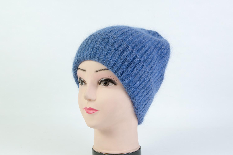 Женская шапка голубая SH H9184A