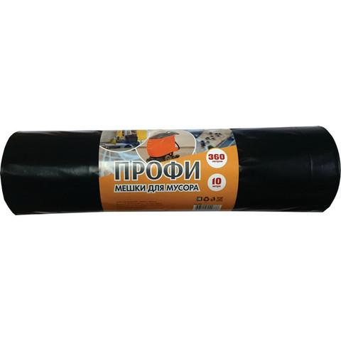 Мешки 360л для мусора на 360 литров Концепция Быта черные (60 мкм, в рулоне 10 штук, 110х140 см)