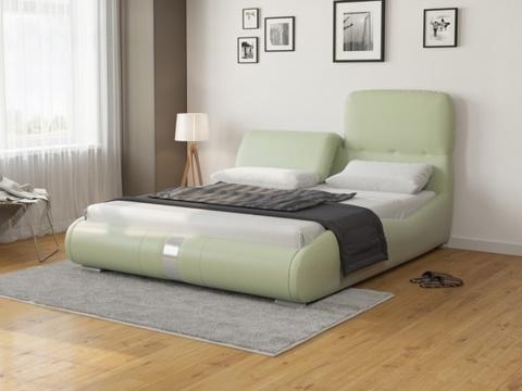 Кровать Лукка Экокожа: зеленое яблоко