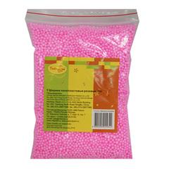 Шарики пенопластовые розовые, 12 гр