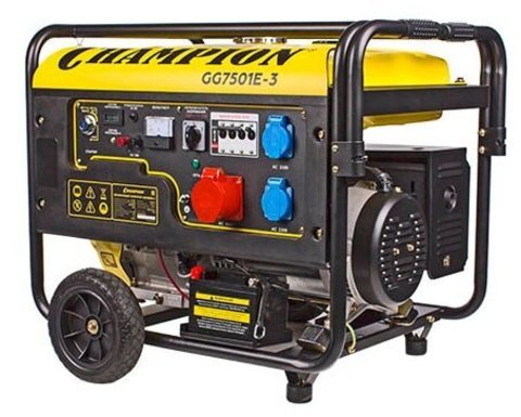 Генератор бензиновый Champion GG7501E-3