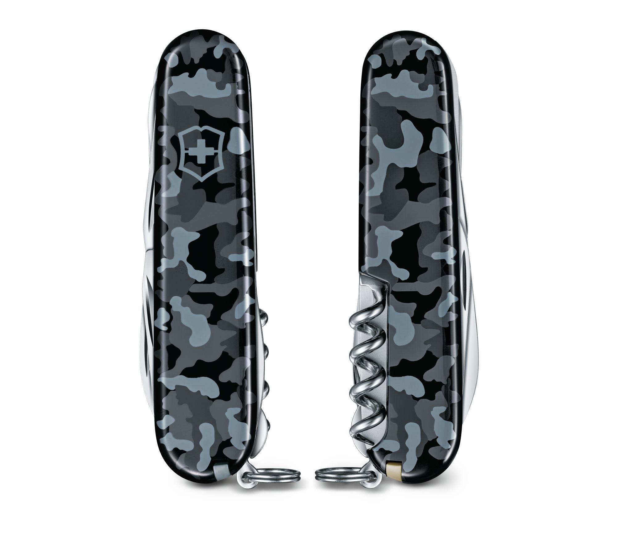 Складной нож Victorinox Huntsman Navy Camouflage (1.3713.942) 91 мм., 15 функций, морской камуфляж - Wenger-Victorinox.Ru