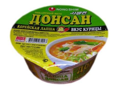 Лапша б/п Nongshim Донсан куриная не острая 86г