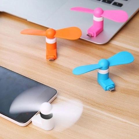 Портативный мини вентилятор для Андроид