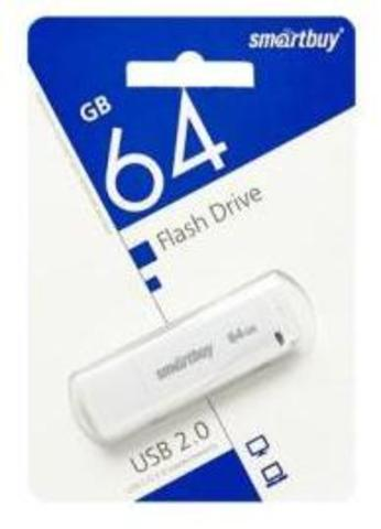 Флеш-накопитель USB  64GB  Smart Buy  LM05 белый