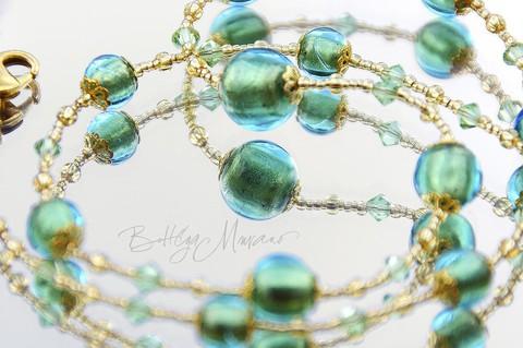 Ожерелье Примавера изумрудное