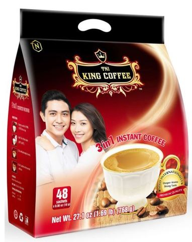 Растворимый кофе 3в1 TNI King Coffee - 48 х 16 гр.