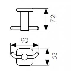 Крючок двойной KAISER Vera KH-1702 схема