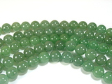 Нити бусин из авантюрина зеленого, шар гладкий 10мм (оптом)