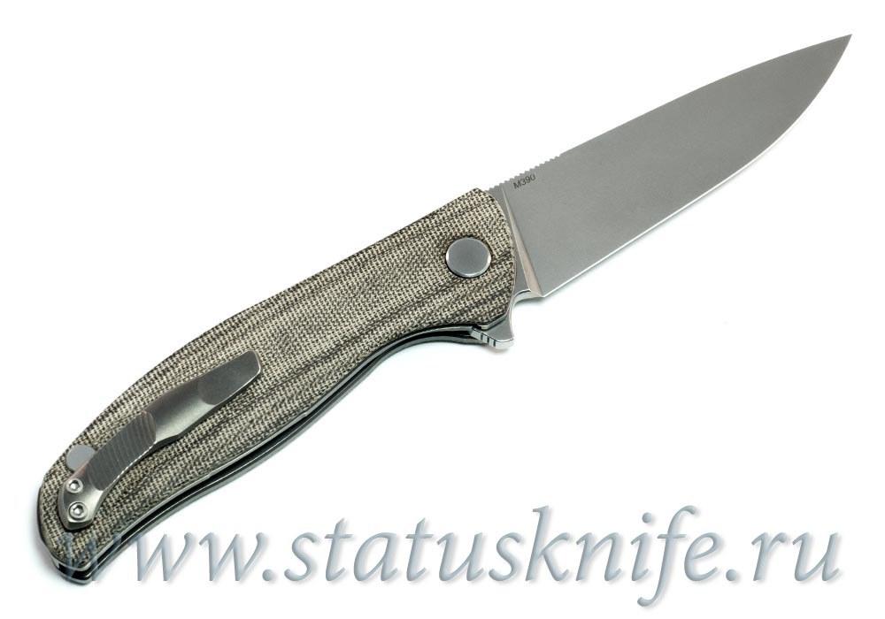 Нож Широгоров Ф3 М390 Микарта 3D роллер-подшипники - фотография