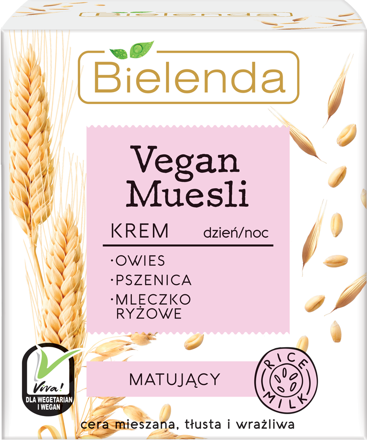 VEGAN MUESLI матирующий крем пшеница + овёс+рисовое молоко 50 мл