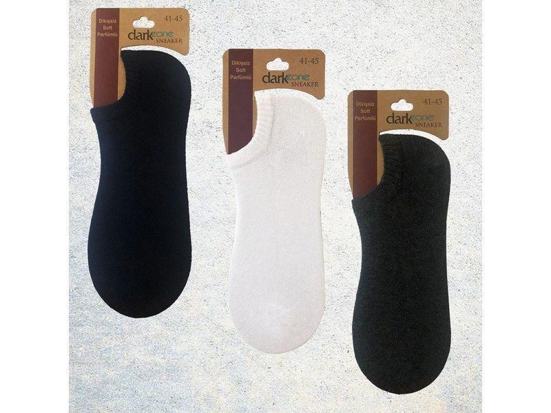 Носки-невидимки мужские - набор из 3 пар (темно-синие, белые, темно-серые) DARKZONE DZCP3104