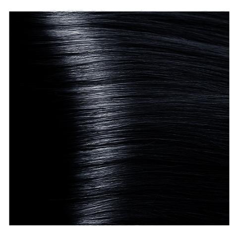 Крем краска для волос с гиалуроновой кислотой Kapous, 100 мл - HY 1.1 Иссиня черный