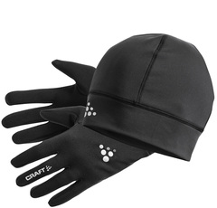 Комплект Шапка и Перчатки Craft Running Winter Gift Pack Black
