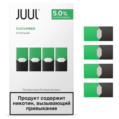 Картридж Juul Labs x4 JUUL 59 мг, 0,7 мл - Cucumber