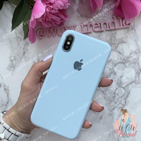 Чехол iPhone X/XS Silicone Slim Case /sky blue/