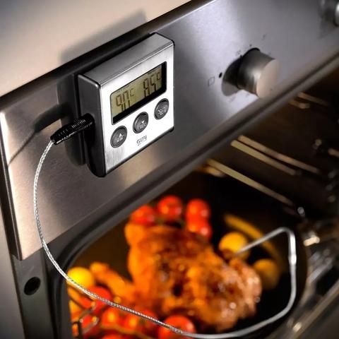 Термометр с таймером для духовки с удлиненным щупом, наружный
