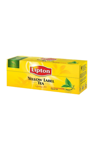 Lipton Yellow label в пакетиках, 25 шт