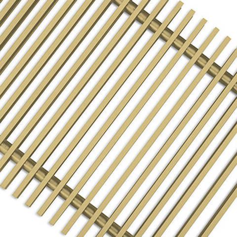 Решетка поперечная алюминиевая Techno шириной 300 мм, длина 2800 мм (цвет золото)